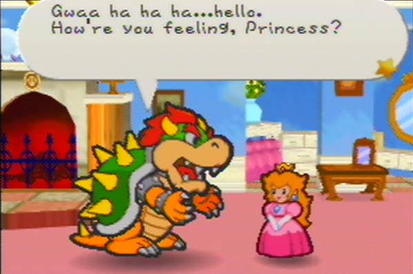 Paper Mario - Bowser & Peach
