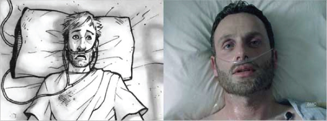 Rick Grimes Wakes Up - Comic vs TV